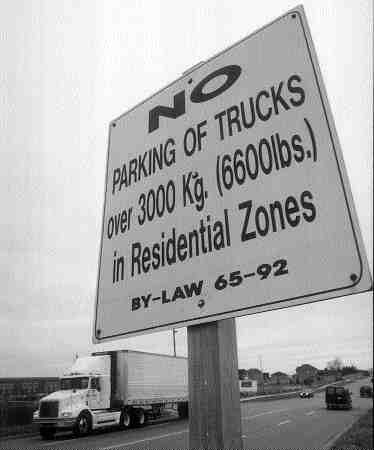 UNWELCOME: Cobourg, Ont. shows its feelings about truck parking. A recent Ontario Municipal Board ruling would back the stance. (Photo by John G. Smith)
