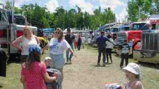 SHINE ON: More than 475 trucks were polished for the show.