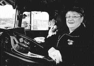 A MINORITY: Denise Cote is one of only 7,000 women truckers on our roads.