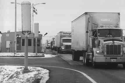 BYPASS:  Police are cracking down on trucks evading the inspection stations.