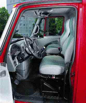 ROOM WITH A VIEW: The new cab design tries to give drivers everything.