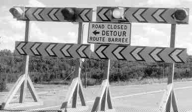 DETOUR: Drivers were angered when both bridges were closed.