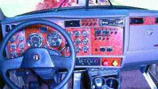 DASHING NEW LOOK: Kenworth's new driver command centre.