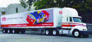 RACE TESTED: Dupont drew on its involvement with NASCAR in its design.