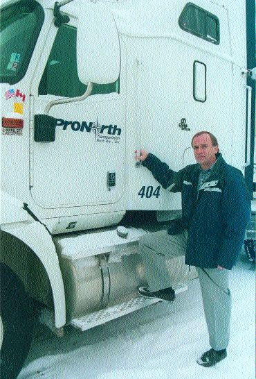 BUSINESS AS USUAL?: Eric Nickle is a driver trainer with North Bay's Pro North Transportation, which is a principal carrier of explosives for ETI canada. Photo by Brandi Cramer