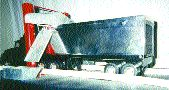 The vehicle roof snow removal system was designed to prevent chunks of snow and ice from flying off the tops of transport trailers. It is a new piece of safety equipment that can also be used as a washing system year-round. For further details, e-mail goforward1@sympatico.ca.