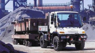 BRUTE FORCE: The Unimog can tackle 80 per cent inclines.