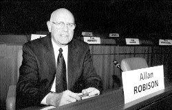 DREAMER: Reimer Express Lines president, Allan Robison, presented the trucking industry's dream.