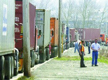 BACKED UP: A permanent solution to Port of Halifax back ups has yet to be found.Photo by Paul Darrow