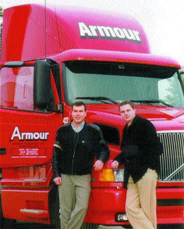 FAMILY MATTERS: Angus Armour (left) and his brother Ralston (right) are a big factor in Armour Transportation Systems running so smoothly.