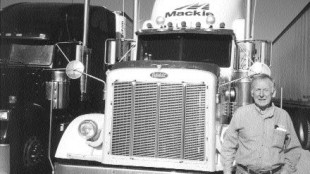 ON THE ROAD: Ross Mackie (pictured), founder of Mackie Moving Systems, is a true pioneer in the trucking industry. Photo by Harry Rudolfs