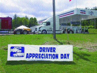 THANKS: The APTA took some time to say thank-you to drivers.