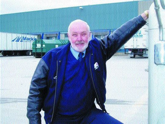 THE FACE OF TRUCKING: Seniors like Les McCulloch, 71, are the new face of trucking. Photo by Harry Rudolfs