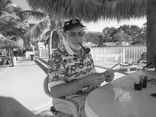 MADE IN THE SHADE: Gerry VanSickle isn't one of those retirees who doesn't know how to sit back and enjoy the good things in life.