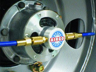 SAFETY: Airgo Systems' tire inflation device helps drivers avoid blow outs.