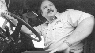 ALONG CAME DALE: 1996 winner Dale holman is now a fixture on the truck safety and seminar scene. Truck News archives