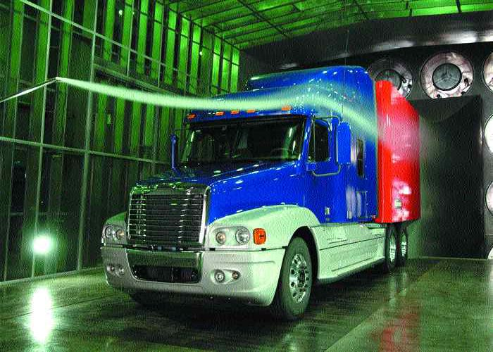 HIGH-TECH: Freightliner has invested in a new state of the art wind tunnel, shown in this picture.