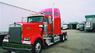 TECHNO-TRUCK: This Kenworth W900L is the first of East West Express' trucks to be equipped with the Mobileye system. Photo by James Menzies