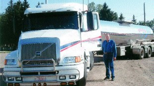 STILL TRUCKIN': O/O of the Year Irvin Duncan still hauls for Chinook Carriers.