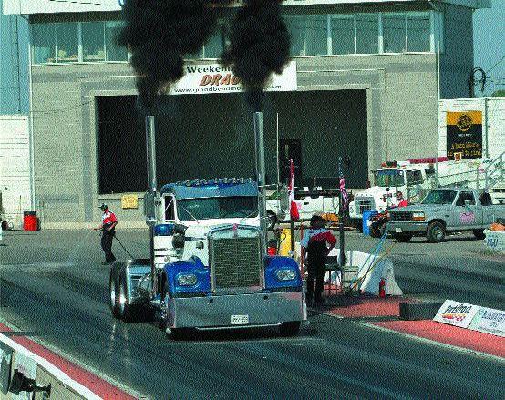 VROOOM: This Brian Kurtz truck, a '68 Kenworth, had a 16.40 second blast down the quarter mile. Photo by Fastpixs.com Digital Media