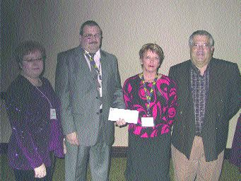 THANK YOU: (L-R) Ruby Roberts, Dave Roberts, LeeAnn McConnell and Jim Campbell.