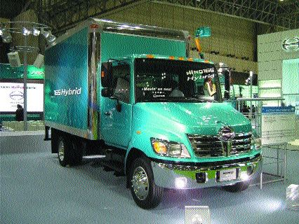 ECO TRUCK: Hino's hybrid uses up to 30 per cent less fuel.