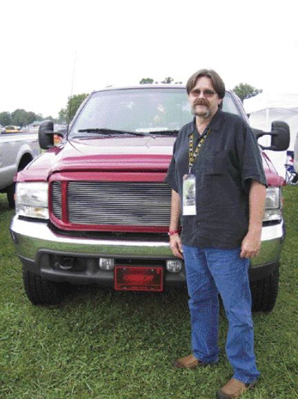 MORE POWER: Larry Baugher is one of many former truck drivers looking for a big rig feel with a Power Stroke Diesel engine.