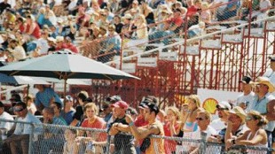 PACKED HOUSE: A huge crowd was on-hand to soak in the sunshine and watch the big rigs tear up the strip.