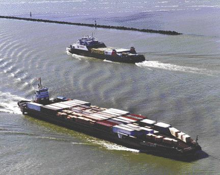SETTING SAIL: Two Seaspan Coastal Intermodal vessels set sail for Vancouver Island. The company says fuel prices and driver shortages make short sea shipping an ideal alternative.