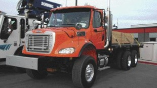 VOCATIONAL UPGRADES: Freightliner's vocational Business Class M2 now features a hood access latch for easy access to fluids and components.