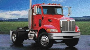 NEW LOOK: Peterbilt completely redesigned its medium-duty truck last year when introducing the new 335.