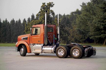 BUILT FOR CANADA: The Volvo VT 800 day cab is ideal for Canadian applications such as logging, mining or heavy-haul.