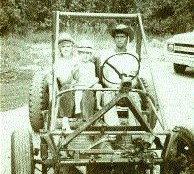OLD SCHOOL: Howard (centre) discovered his love of trucking and his artistic flair at an early age.