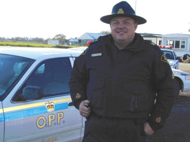WATCHDOG: Sgt. Cam Woolley of the OPP was on the 407 along with officers from his and other detachments during the recent blitz. Police want truckers to know that taking the ETR 407 isn't a free pass.Photo by James Menzies