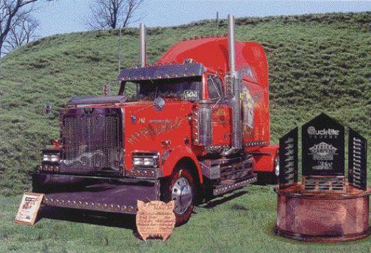 WINNER: Canada's own Maple Leaf Pride (pictured) won a prestigious U.S. award for show trucks.