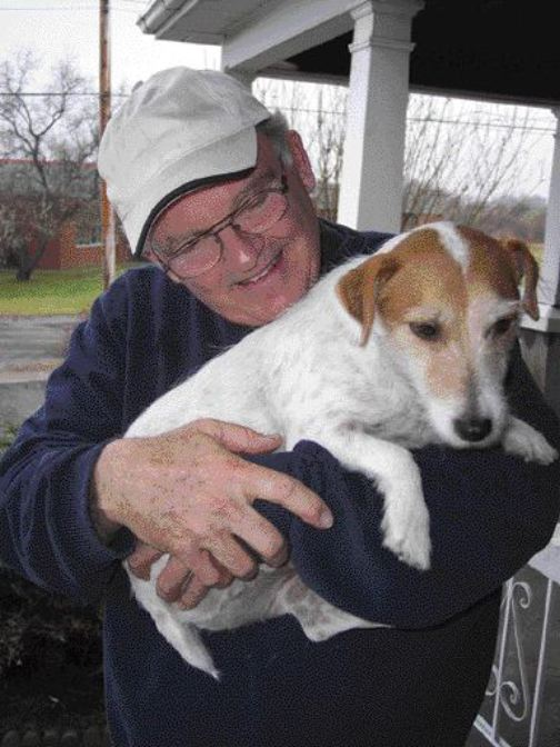 IN THE DOGHOUSE: Trucker Dave Nixon found himself hurt, angry and without a job after his former employers at Bruce R. Smith discovered he was bringing his dog Hamlet along for the ride. Smith has a strict no 'riders' policy which includes pets.Photo by Adam Ledlow
