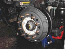 BALANCING ACT: There are numerous forms of dynamic wheel balancing systems including this one provided by Balance Masters. They iron out imperfections in the tire, improving fuel mileage and tire wear, manufacturers say.