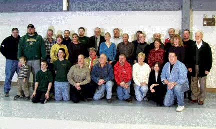 THANKS!: Representatives of local groups celebrated recently with the Fergus Truck Show board of directors following some big donations.