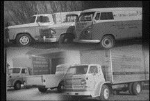 TIMELESS: Some old rigs from Pedersen Transportation 's humble beginnings.