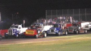 STARTING GRID: The North American Big Rig Racing series inverts its starting grid to create additional passing and excitement for its fans. With the fastest trucks starting from the back, anything can happen.