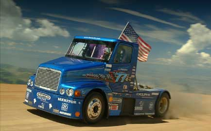 Mike Ryan's hand-built racing truck will be showcased at the upcoming Mid-America Trucking Show March 23-26.