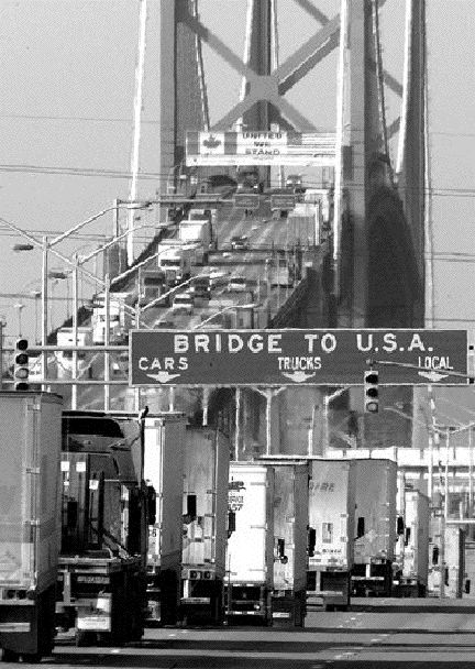 CONTROVERSY: Allowing trucks to carry aluminum sulphate over the Ambassador Bridge has sparked some concern in Windsor.