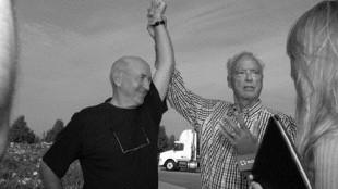 PHILANTHROPISTS: John Cyopeck (left) celebrates with fellow philanthropist Harold Shipp after raising $2.6 million for Trillium Health Centre.