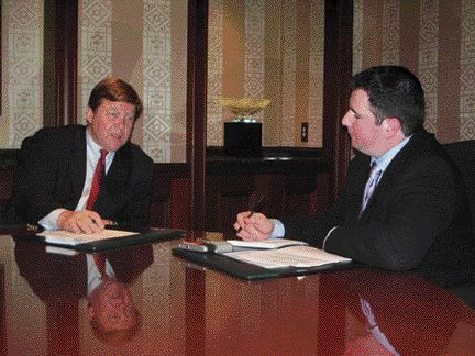 POSITIVE OUTLOOK: Mack president and CEO Paul Vikner (left) says 2007 should be a good year if the economy remains strong.