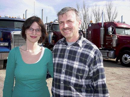 FUTURE LOOKING BRIGHT: Jessica and Edwin Corkum have a bright future ahead of them at Evangeline Transport, with Jessica being groomed for a possible management position down the line.