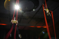 Zero Gravity Circus Aerialists thrilled the crowd at Totalline's 20th anniversary event.