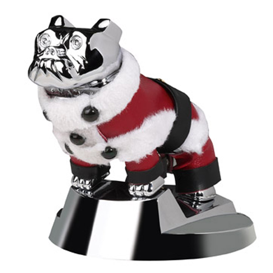 The Mack Bulldog showing off its holiday spirit is just one of the many items on the redesigned Mack Shop Web site.