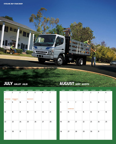 Sterling and Western Star have released 2007 versions of their full-colour calendars.