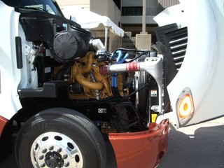 Just over half of fleets surveyed said they will buy trucks like this one, equipped with 2007 engines.