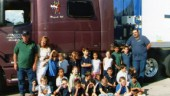 Trucker Buddy Driver of the Month for February, Thomas Barstow, Sr., left, visits with the kindergartners in Lenae Breger-Hermans class at Del Prado Elementary School in Boca Raton, Fla., during the 2005-06 school year.